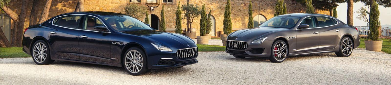 Two Maserati 2019 cars parked outside