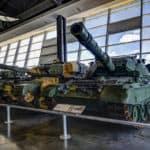military equipment in museum
