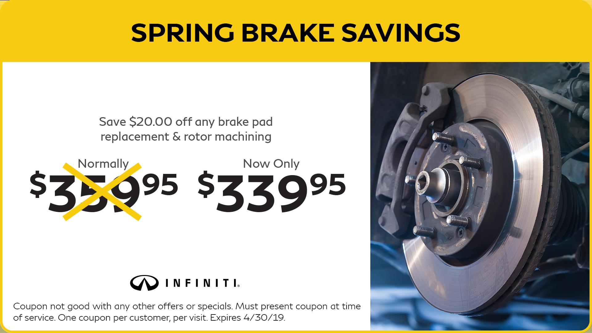 Spring Brake Savings