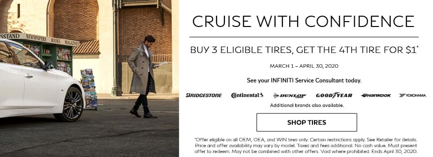 Buy 3 Tires, Get 4th for $1 Tire Special