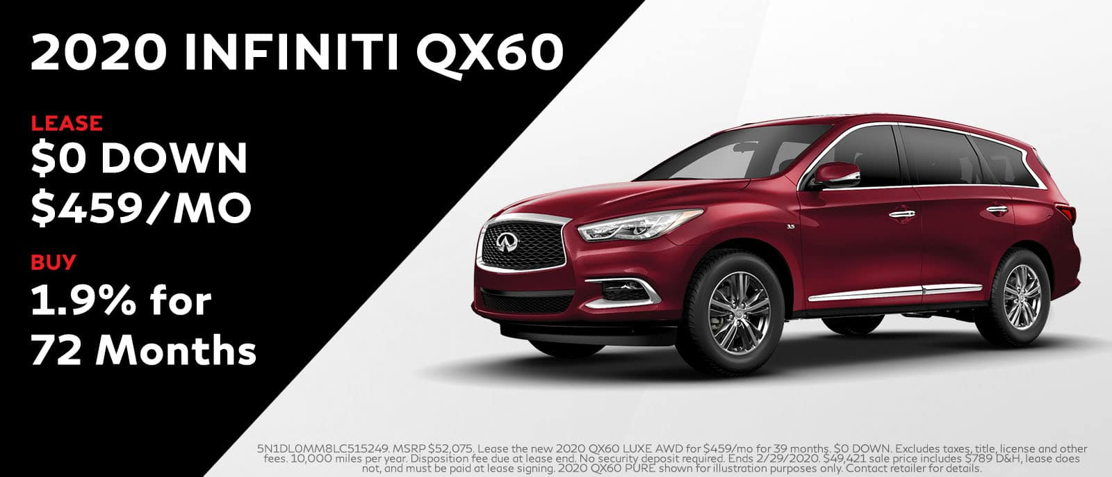 2020 INFINITI QX60 Lease or Buy Offer