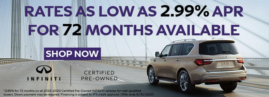CPO as low as 2.99% for 72 months