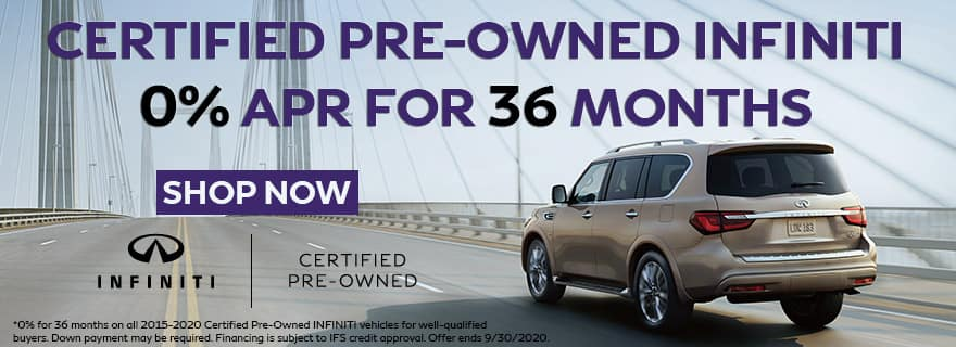 CPO INFINITI for 0% for 36 months