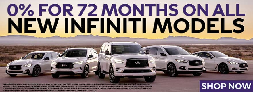 0% for 72 Months on a new INFINITI