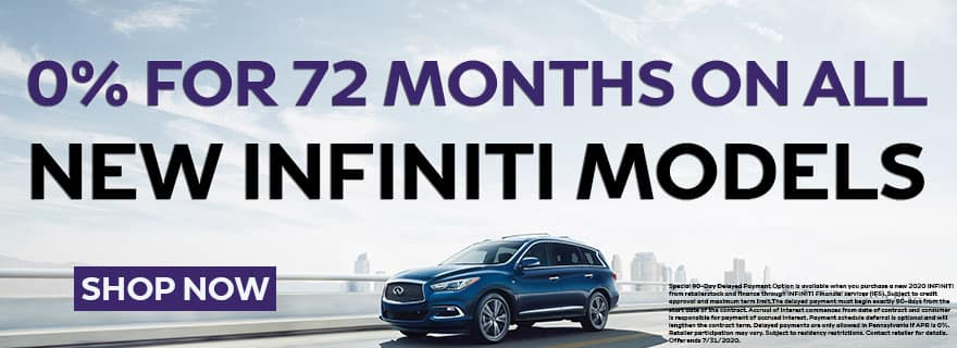 Mike Ward INFINITI 0% APR for 72 Months Offer