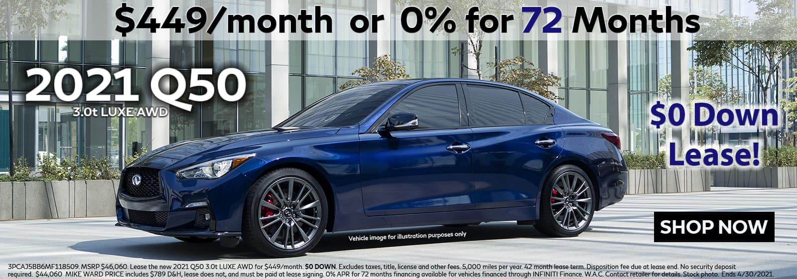 2021 INFINITI Q50 Lease or Buy Offer