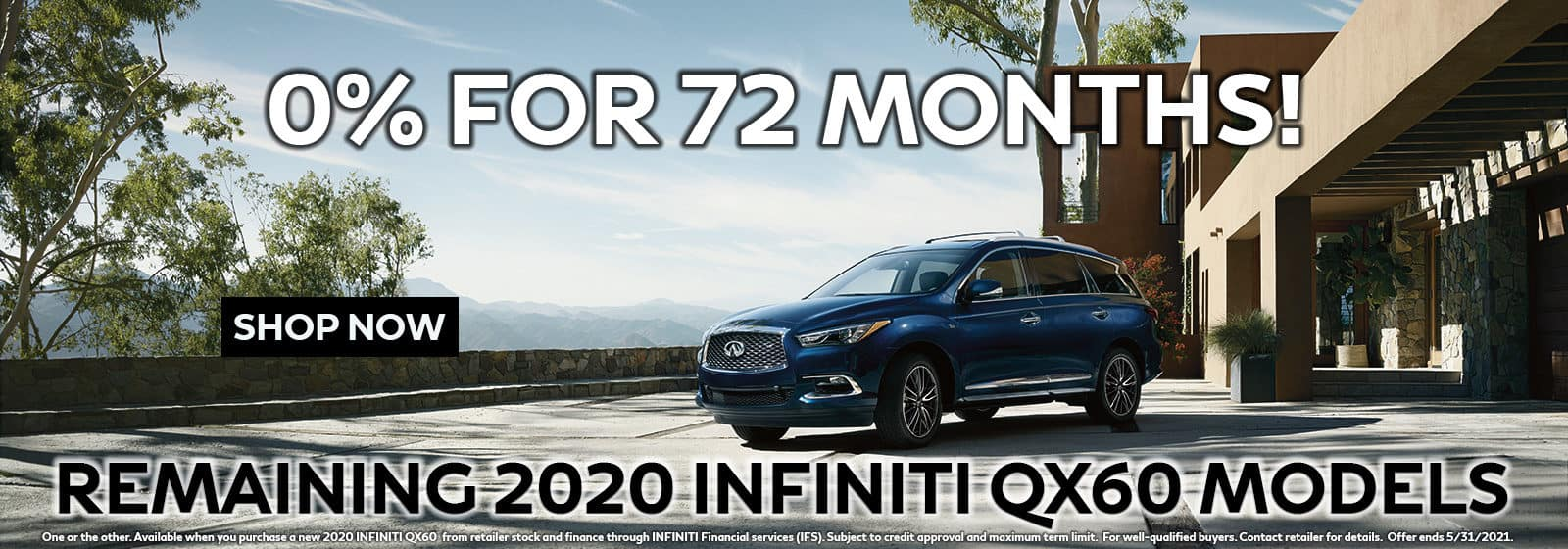 2020 QX60 0% for 72 Months