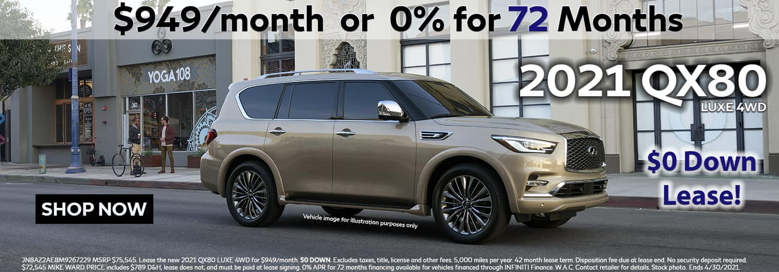 2021 INFINITI QX80 Lease or Buy Offer