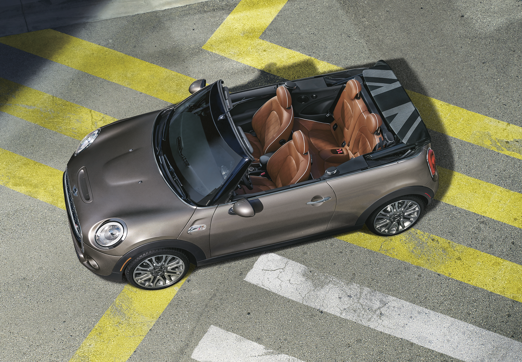 Mini Cooper Convertible With Top Down