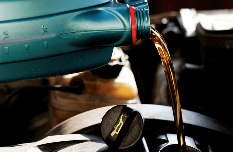 New Engine Oil Pouring