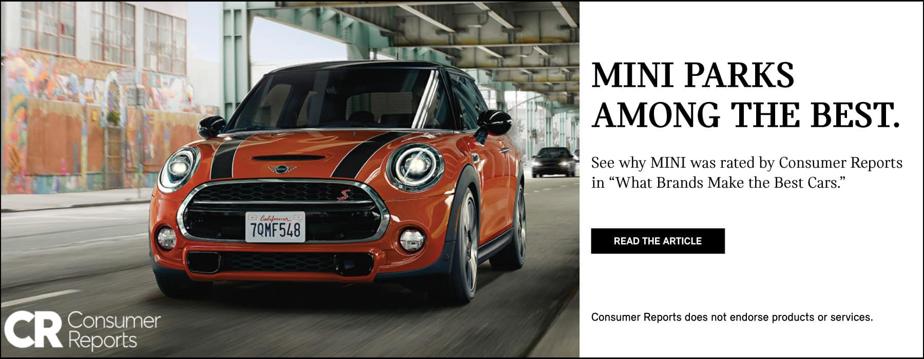MINI PARKS AMONG THE BEST. See why MINI was rated by Consumer Reports in