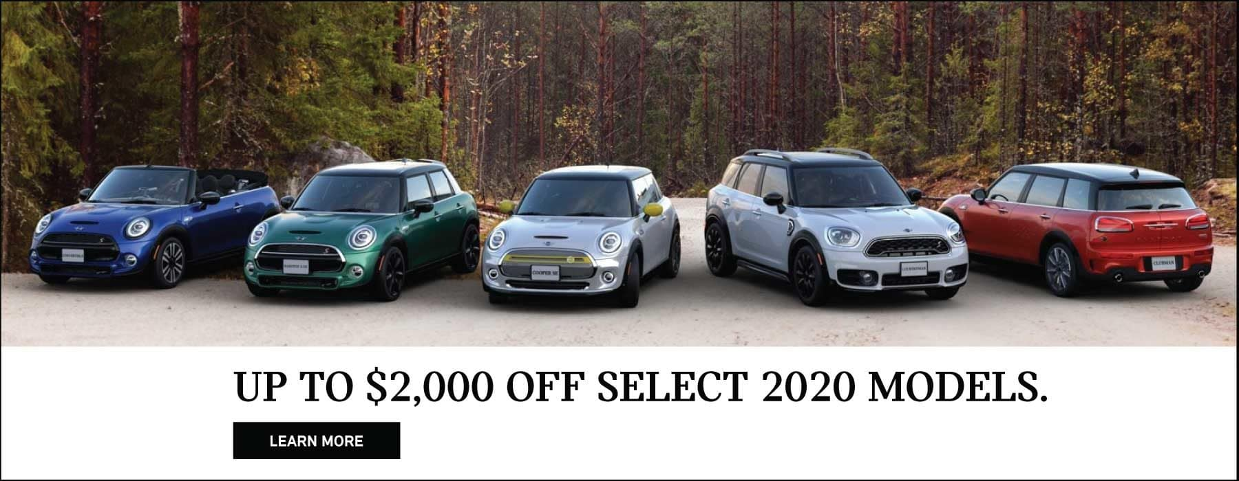 UP TO $2000 OFF SELECT 2020 MODELS