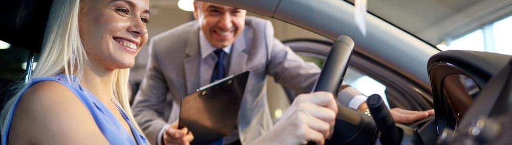 Women Test Driving Car