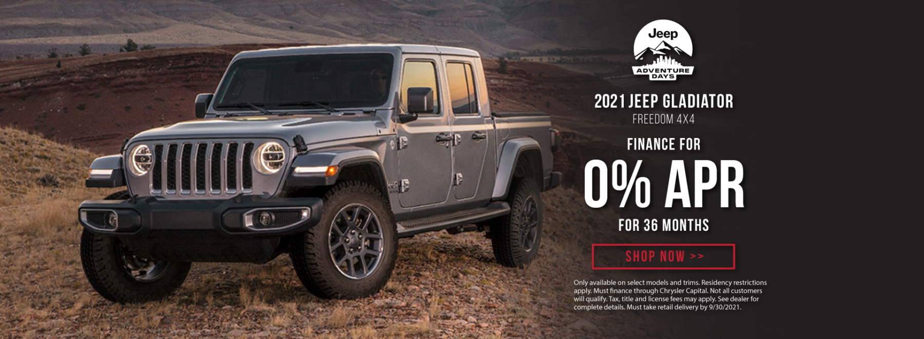 2021 Jeep Gladiator Offer