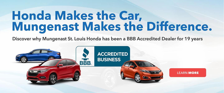 St Louis Honda >> Mungenast St Louis Honda Honda Dealer In Stl