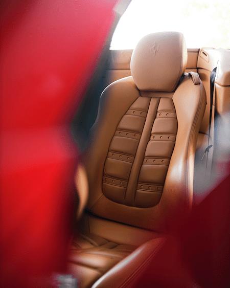 Porsche seat detail