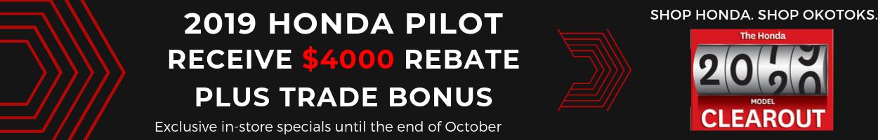 Get your 2019 Honda Pilot from Okotoks Honda, South Calgary