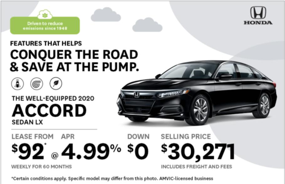 Drive Smart with the 2020 Honda Accord from Okotoks Honda, South of Calgary