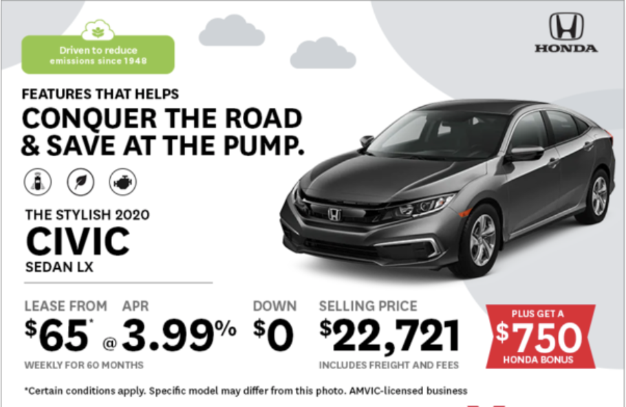 Drive Smart with the 2020 Honda Civic from Okotoks Honda, South of Calgary