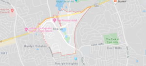 Roslyn NY Map