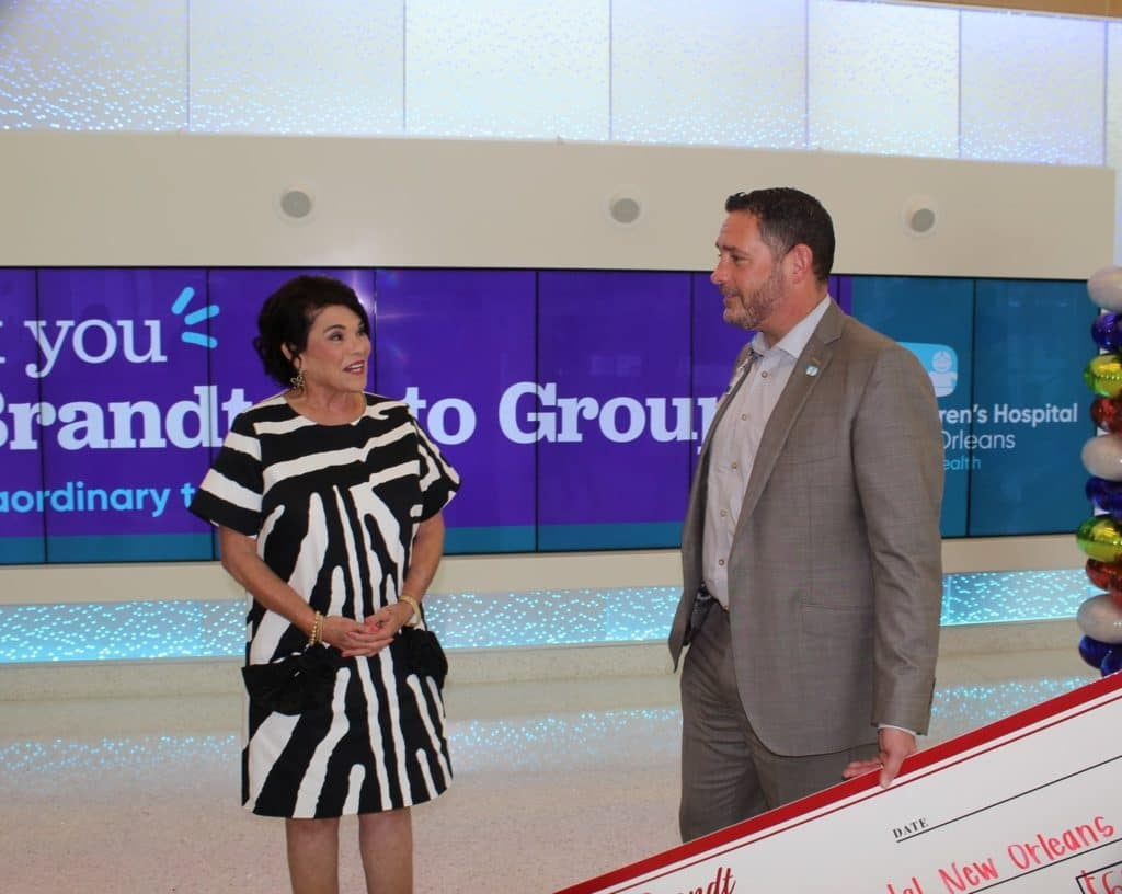 Jessica Brandt Children's Hospital New Orleans, Ray Brandt Auto Group Donates