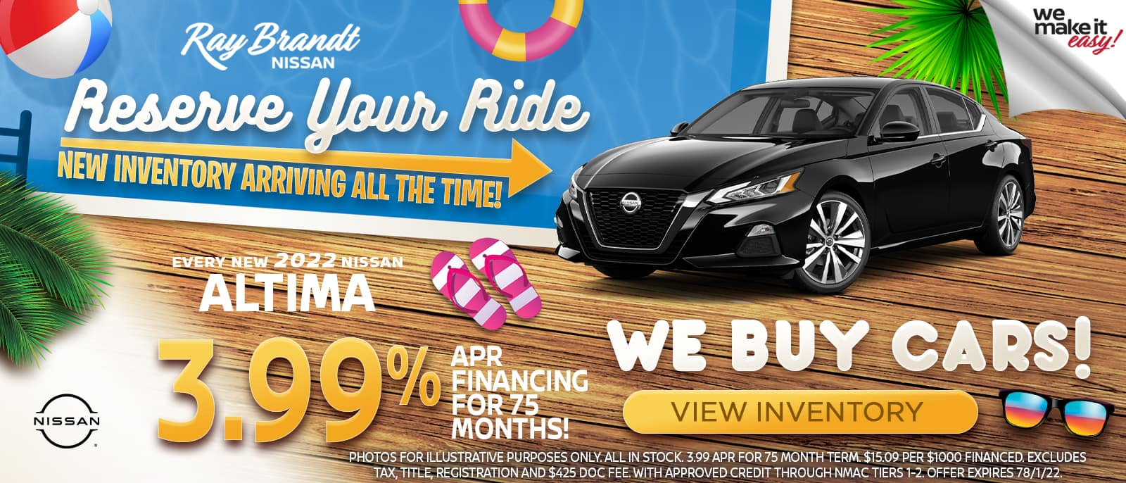 NEW 2021 Nissan Altima at Ray Brandt