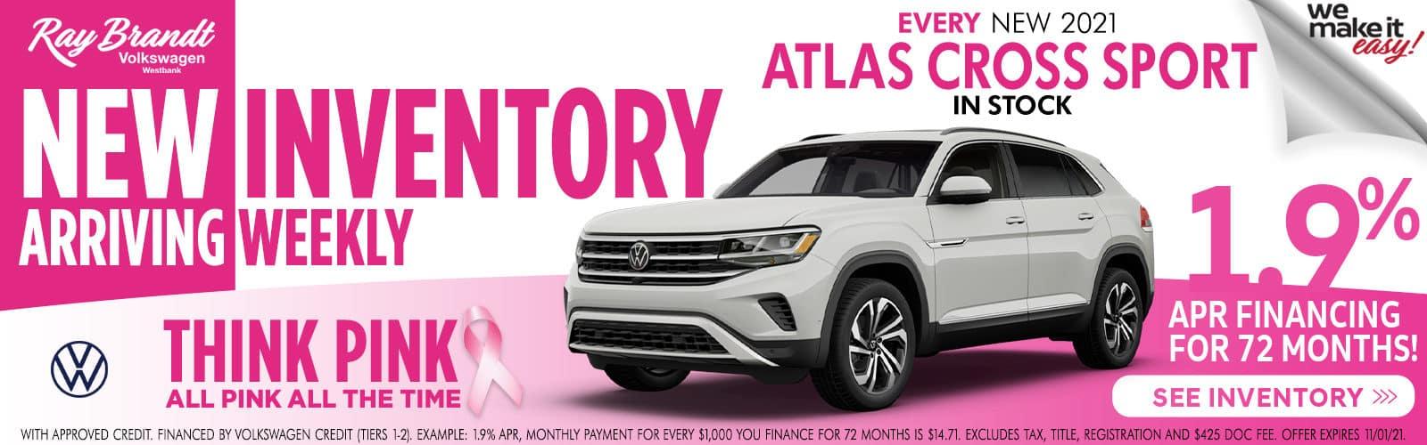 Atlas Cross Sport 1.9% apr financing