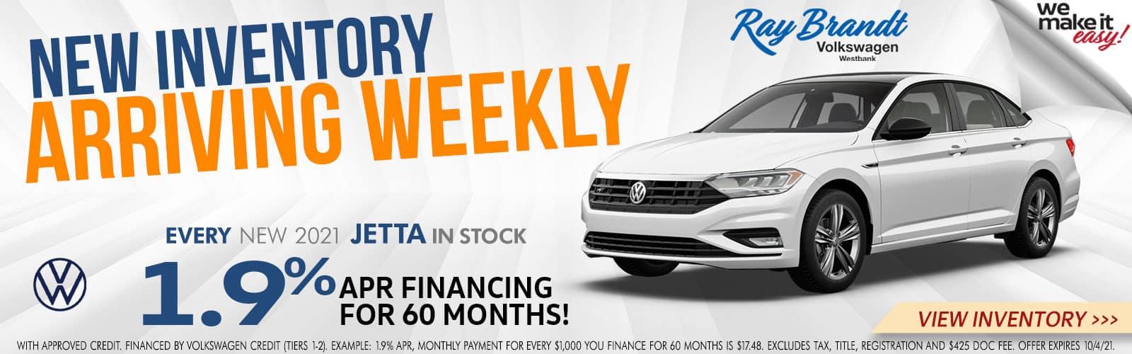 New Volkswagen Jetta for Sale