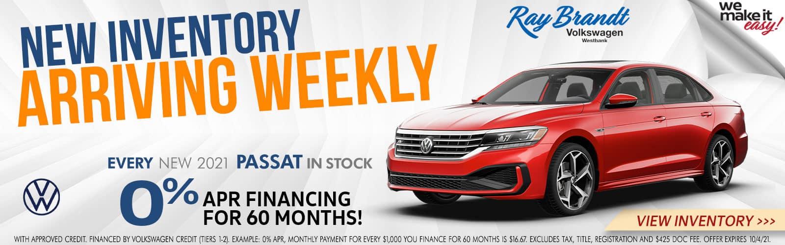 New Inventory Arriving Weekly Volkswagen Passat for Sale