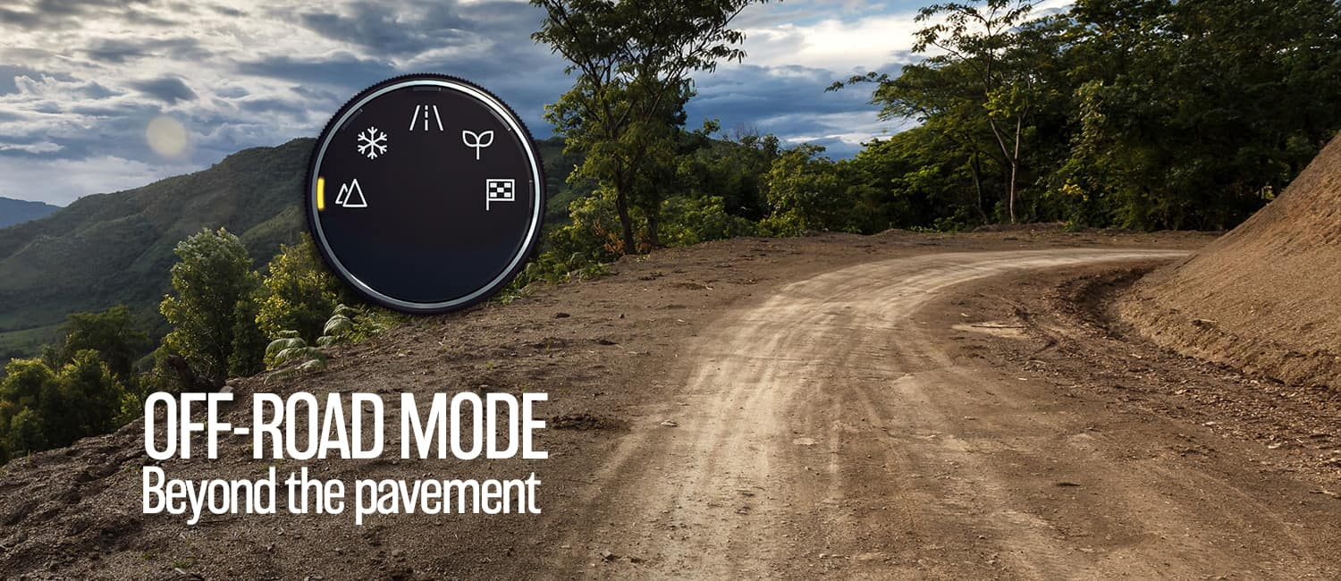 off road mode - beyond the pavement