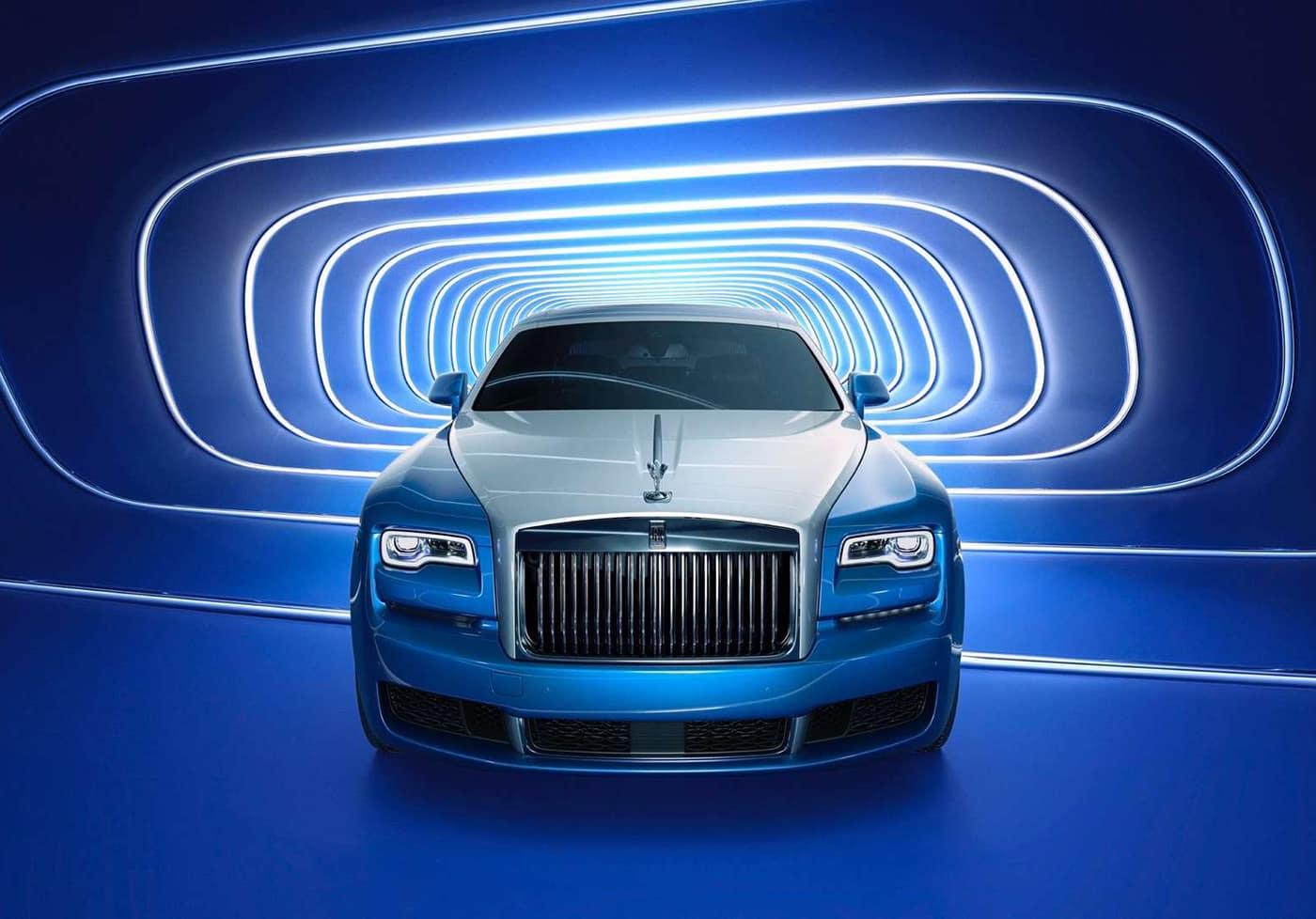 2020 Rolls Royce In Blue Tunnel
