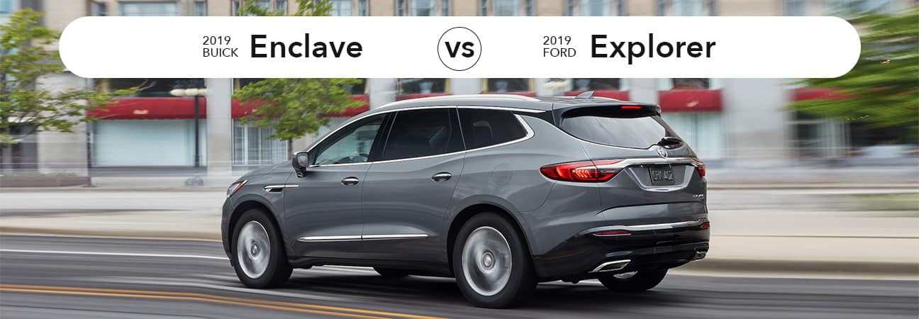 Buick Enclave vs Ford Explorer | Schumacher Buick GMC of North Palm Beach, FL