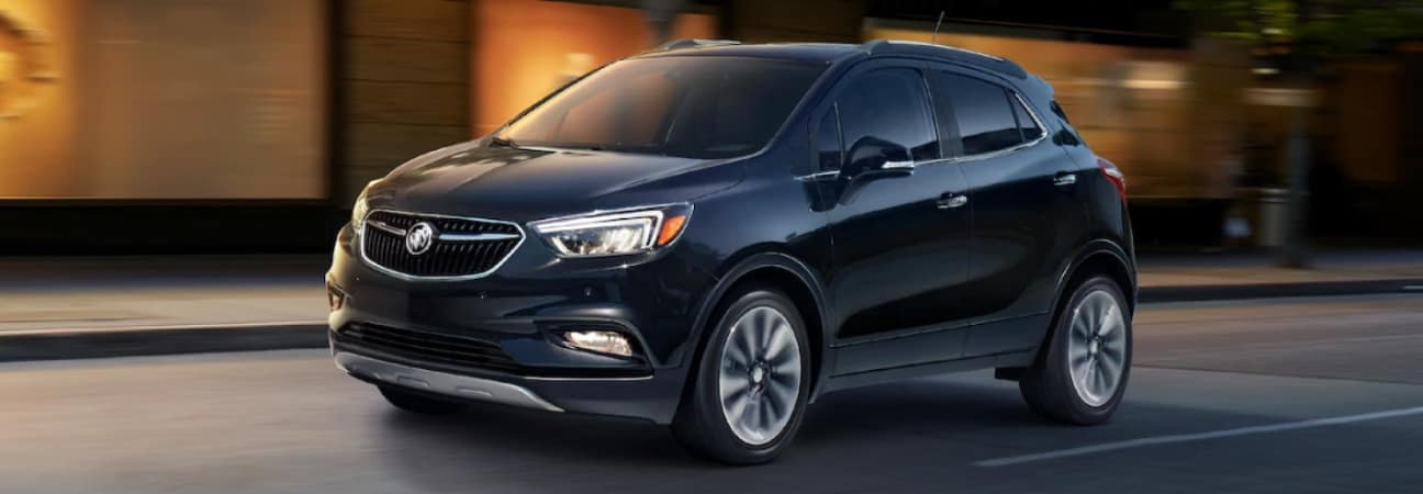 A 2019 Buick Encore driving down the road
