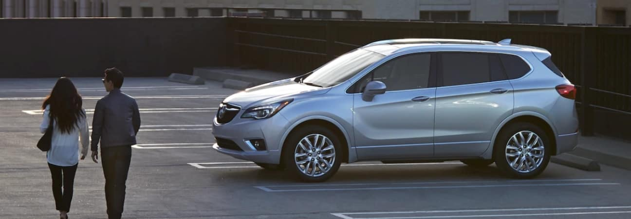 A 2019 Buick Envision parked in a parking lot