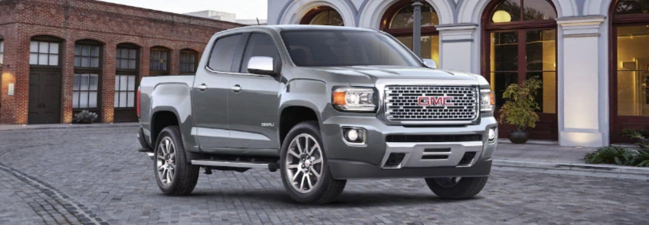2019 gmc canyon denali parked in front of a home