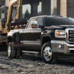 2019 gmc sierra parked on a work site