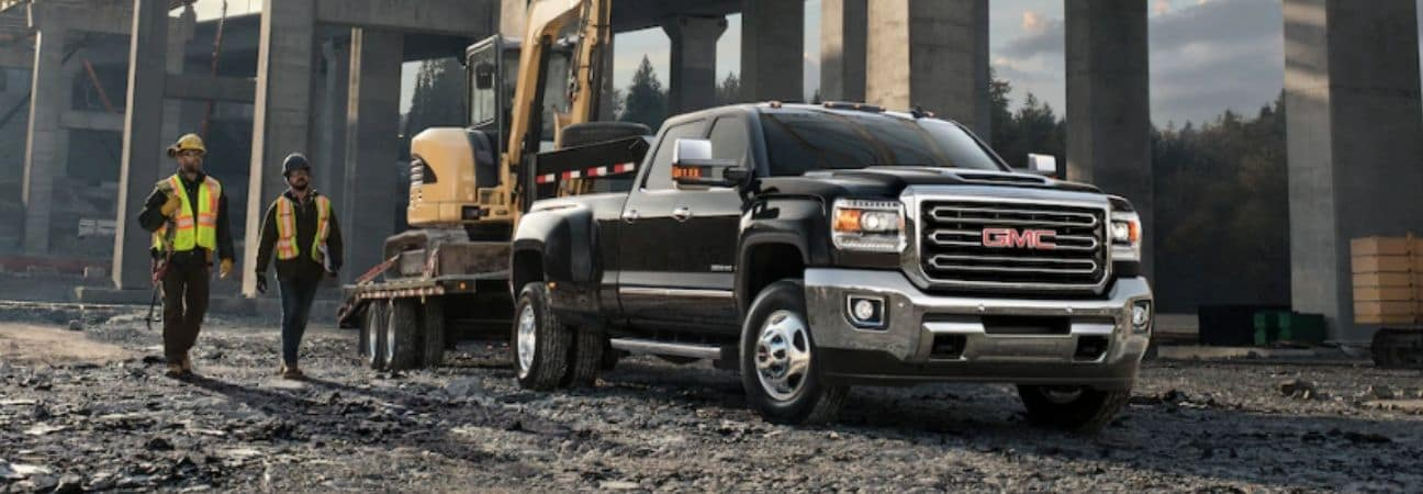 2019 gmc sierra parked on a work site