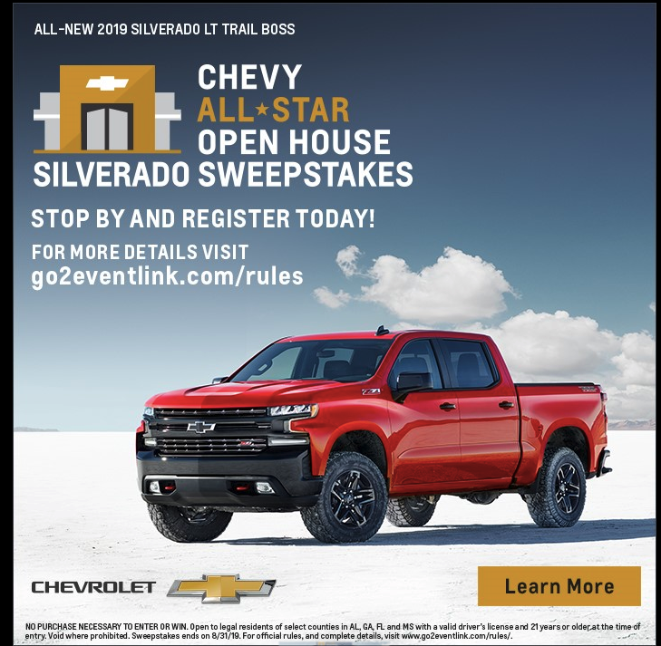 Chevy All Star Open House Sweepstakes | Schumacher Chevrolet