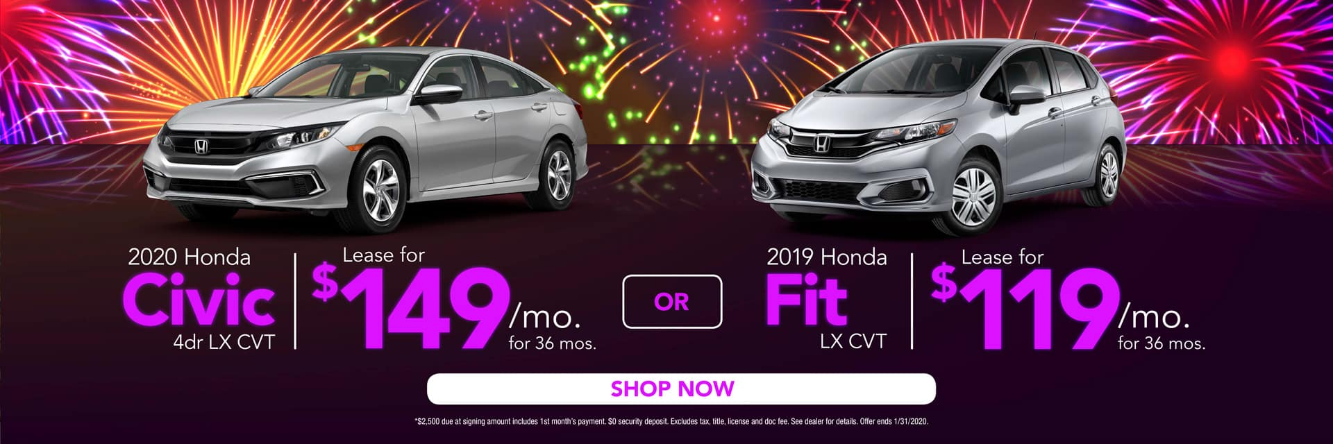 Civic & Fit Lease Offers