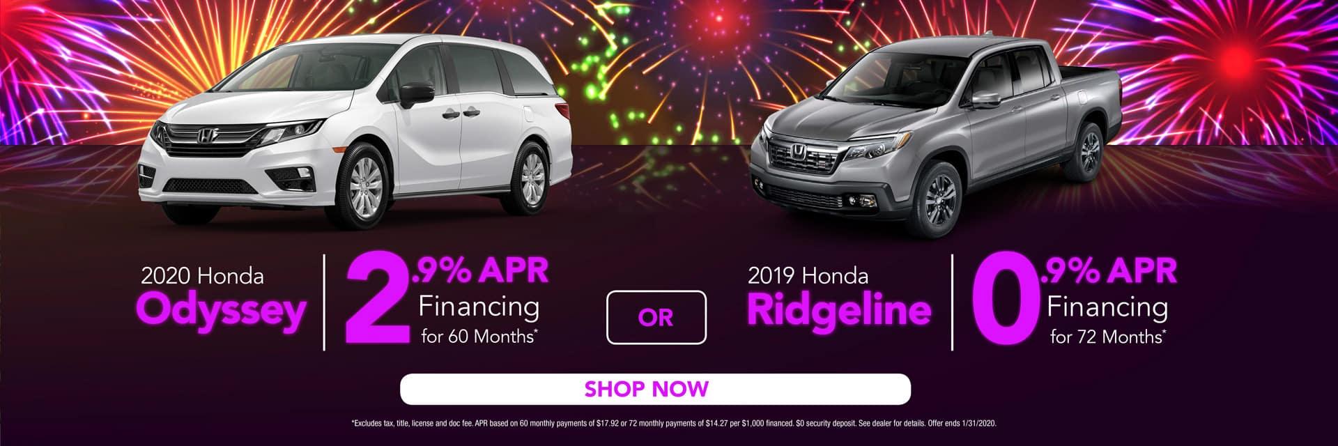 Odyssey & Ridgeline Lease Offers