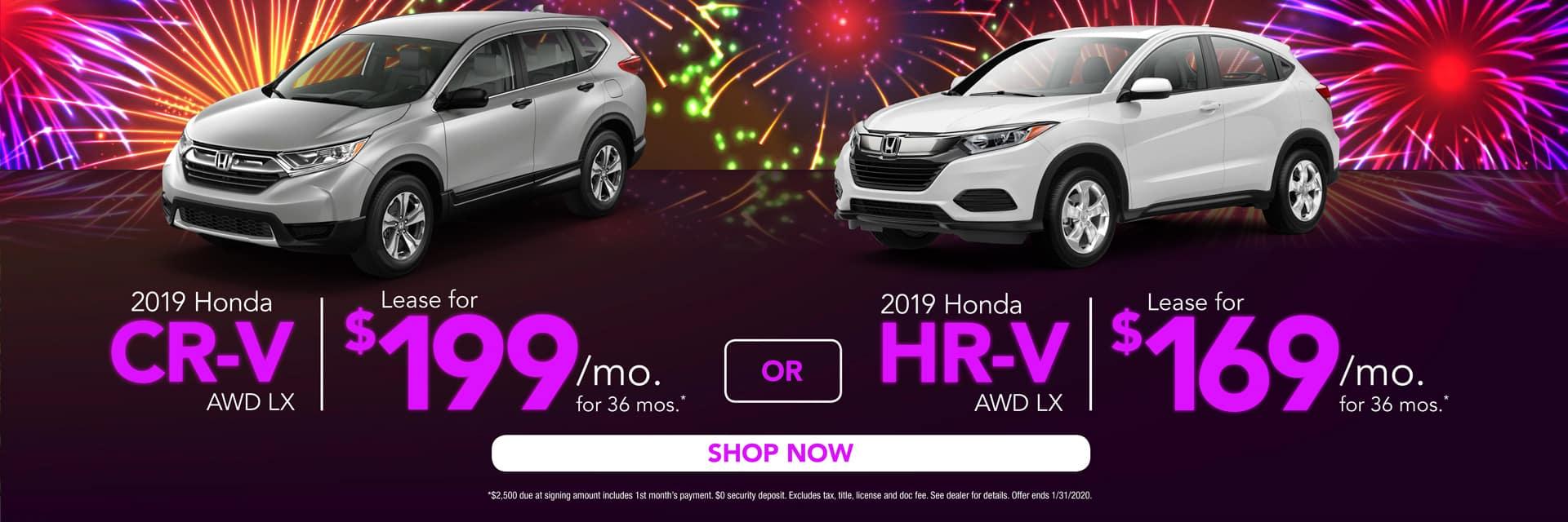 HR-V & CR-V Lease Offers