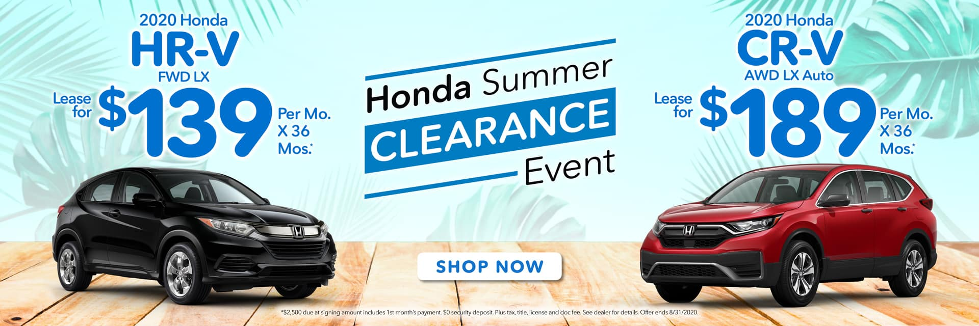 HR-V & CR-V Summer Clearance