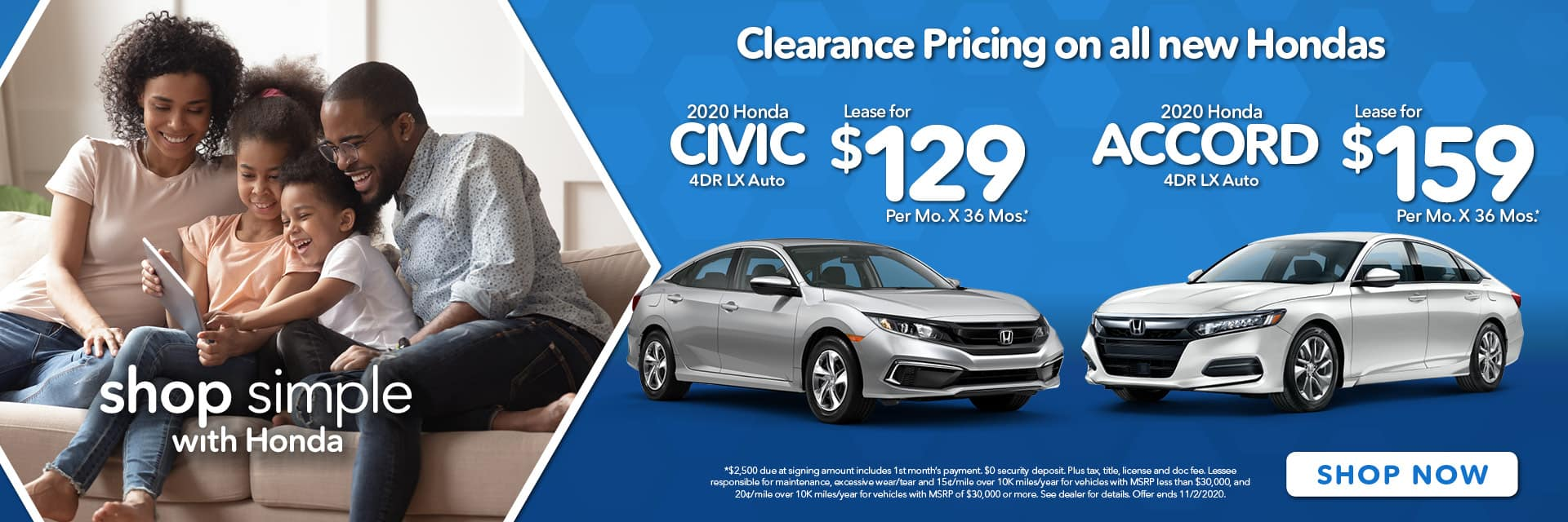 Civic & Accord Offer Banner