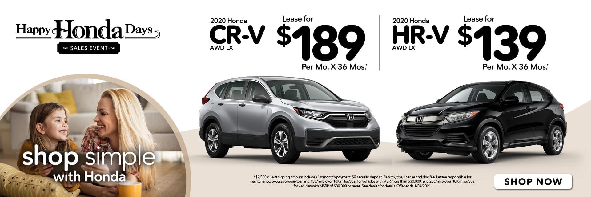 Happy Honda Days HR-V & CR-V