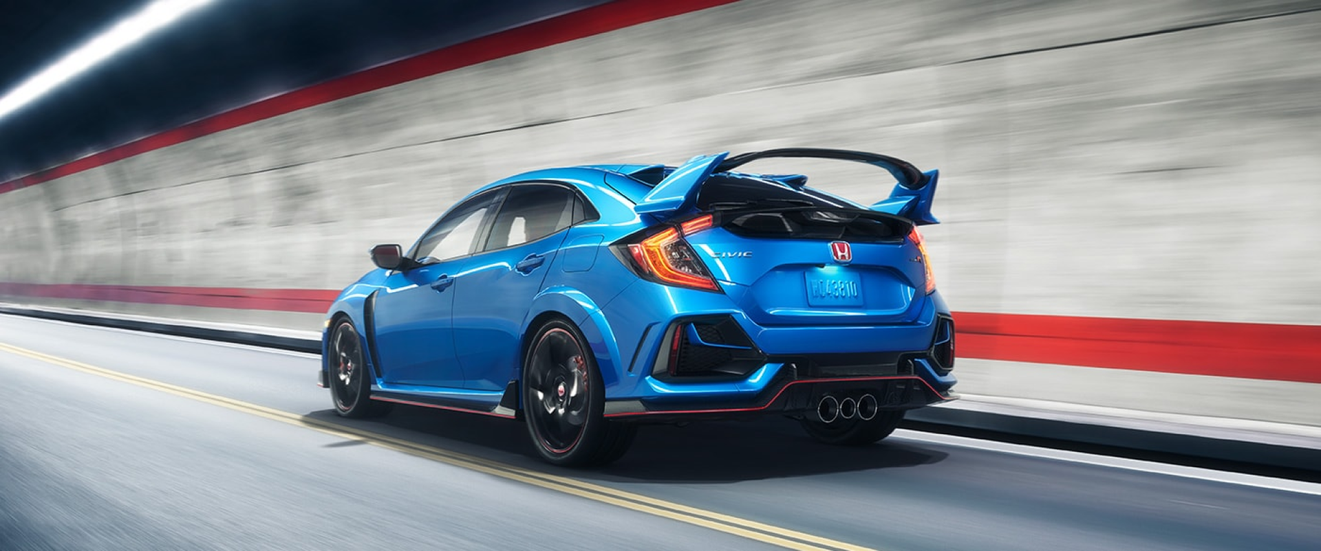 Honda_Civic_Type_R_Blue_Driving_Rear_View