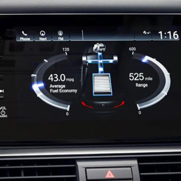Accord Hybrid Interior Energy Controls