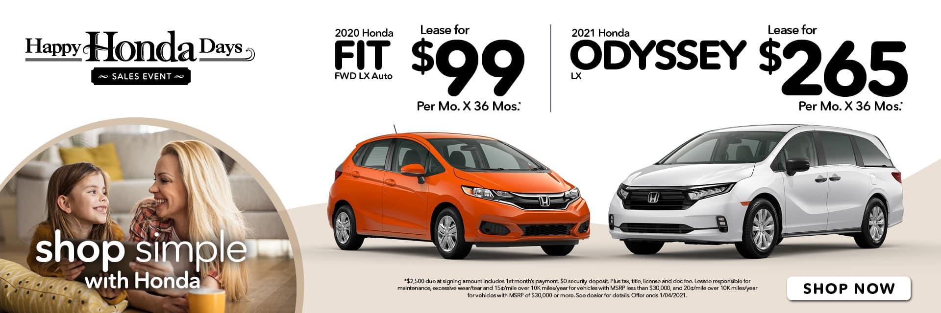 Happy Honda Days Fit & Odyssey