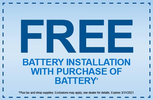Battery Installation Service