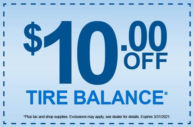 Tire Balance Service Special