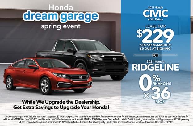 Civic & Ridgeline Lease Special